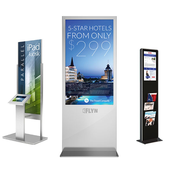 Eflyn IPad Kiosk, Eflyn Free Standing Kiosk and Eflyn Catalogue Kiosk
