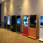 Eflyn Showroom showcasing Free Standing Multi-Touch Kiosks and Self Ordering Kiosk