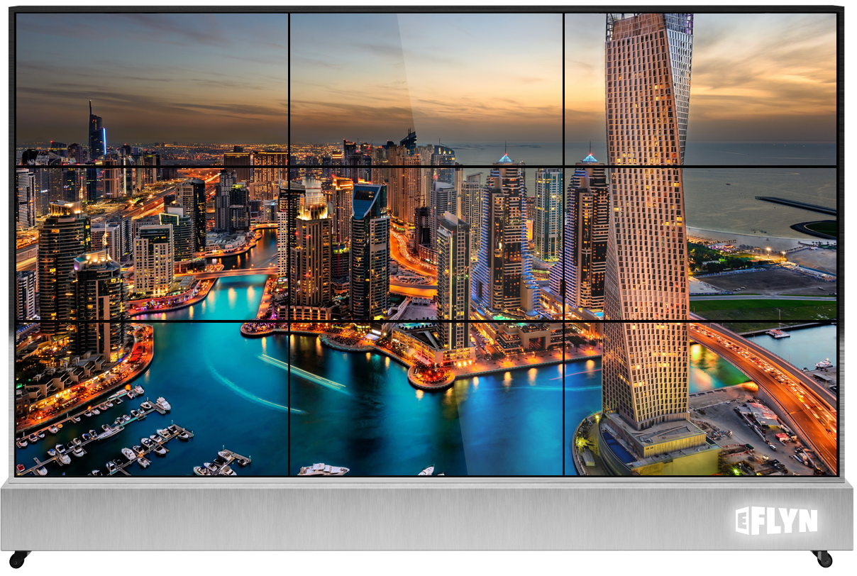 """Eflyn 47"""" portable 9 panels mobile video wall"""