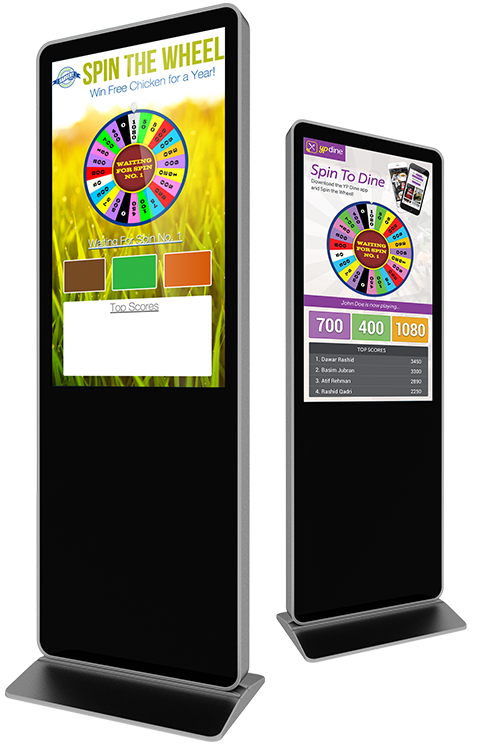Eflyn Free Standing Kiosks Spin To Win App