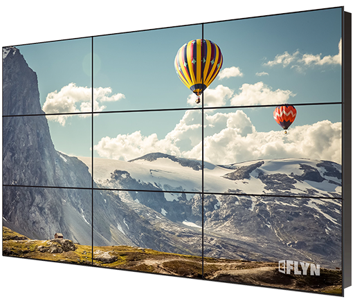 "Eflyn 47"" 3x3 wall-mountable 9 panels video wall"