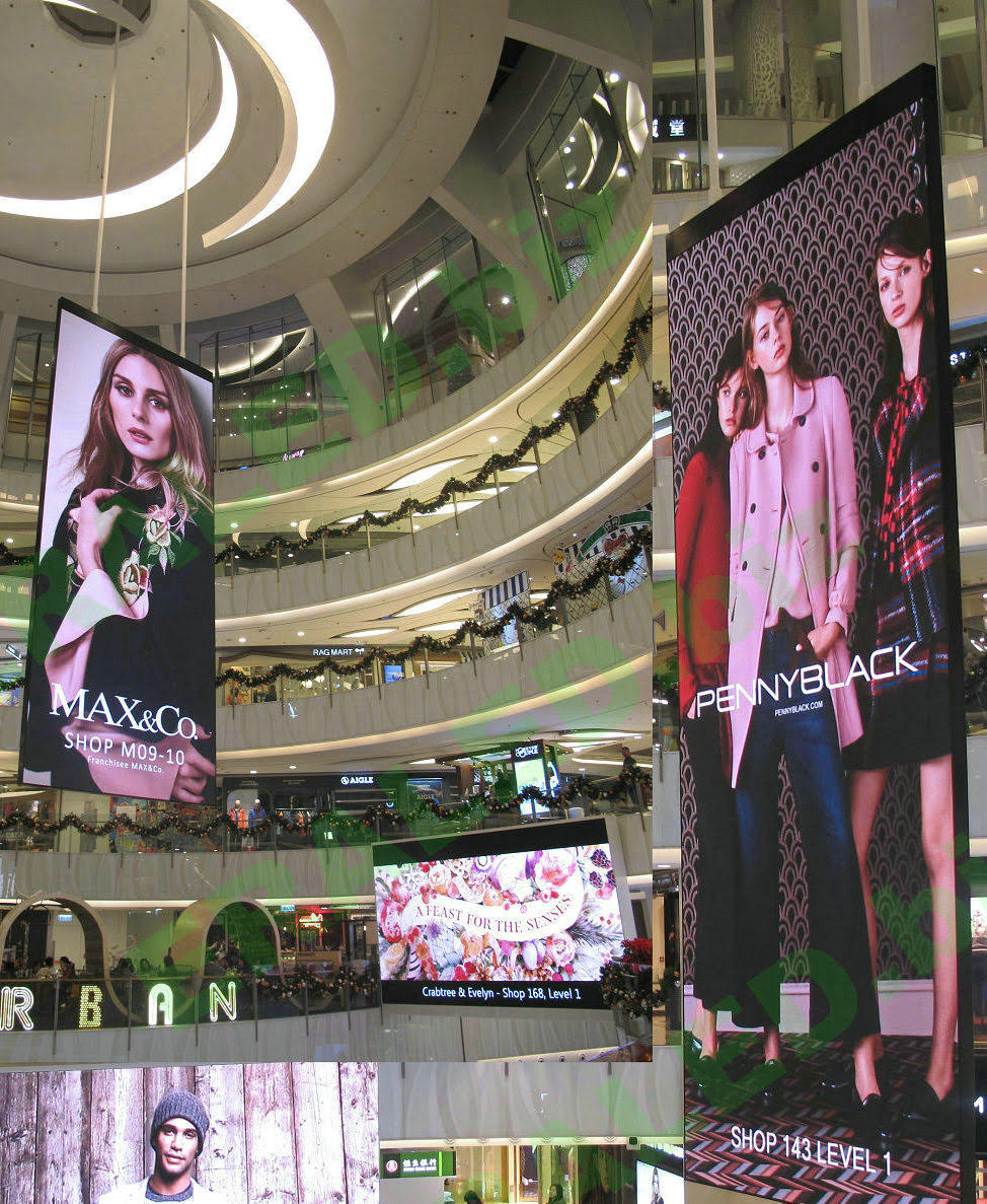 LED Video Walls in a mall