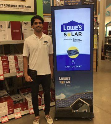 Lowe's Solar Brokers Canada Info Kiosk