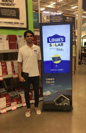 Lowe's Solar Info Kiosk