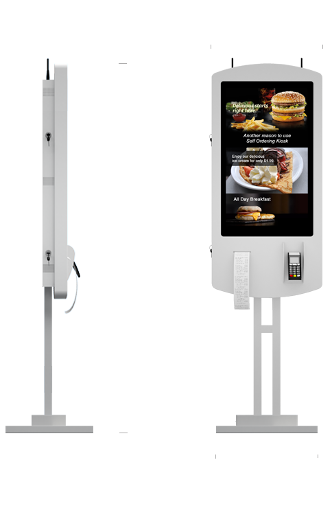 "Eflyn 32"" Self Ordering Kiosks Size Specifications"