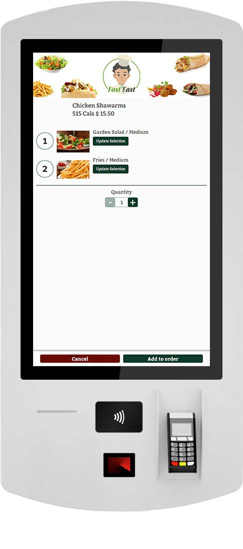 Self Ordering Kiosk Review Page