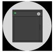 Front loading printer