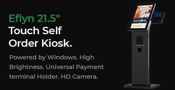 21.5″ Self Order Kiosks for Restaurants & Retailers