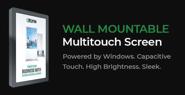 Wall Mountable Multitouch Screens